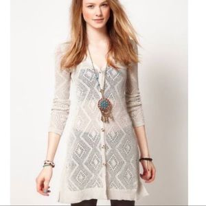 FREE PEOPLE S Long Cardigan Sweater - Ivory
